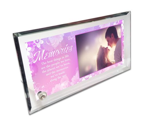 Personalised Memories Quote Crystal Photo Frame